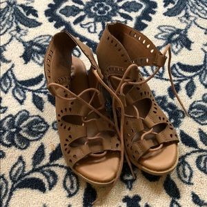 Girls MIA lace up sandals with heal